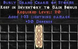 30 Defense w/ 1-33 Lightning Damage GC