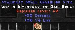 30 Defense w/ 20 Life SC - Perfect