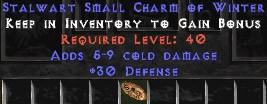 30 Defense w/ 5-9 Cold Damage SC - Perfect