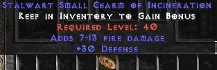 30 Defense w/ 7-13 Fire Damage SC - Perfect