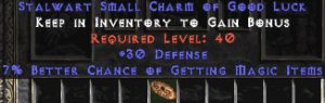 30 Defense w/ 7% MF SC - Perfect