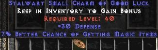 30 Defense w/ 7% MF SC - Perfect