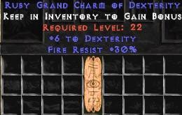 30 Resist Fire w/ 6 Dex GC