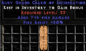 30 Resist Fire w/ 7-14 Fire Damage GC