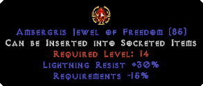 30 Lightning Res / -15% Requirements Jewel
