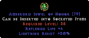 30 Lightning Res / +4 Life Replenish Jewel