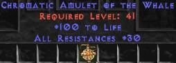 Amulet - 30 Resist All & 100 Life