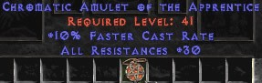 Amulet - 30 Resist All & 10% FCR