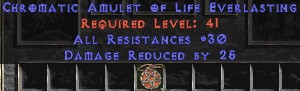 Amulet - 30 Resist All & 25 PDR