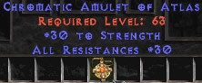 Amulet - 30 Resist All & 30 Str
