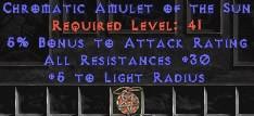 Amulet - 30 Resist All & 5% AR