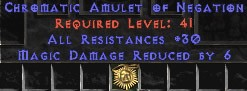 Amulet - 30 Resist All & 6 MDR