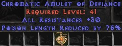 Amulet - 30 Resist All & 75% PLR