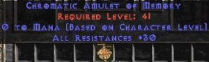 Amulet - 30 Resist All & 0.75 MPL