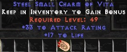 33-35 Attack Rating w/ 16-19 Life SC