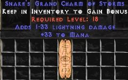 33 Mana w/ 1-33 Lightning Damage GC