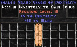 33 Mana w/ 6 Dex GC
