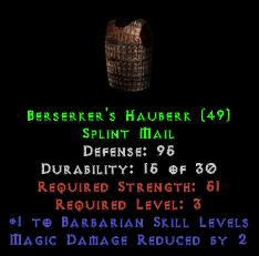 Berserker's Hauberk - 95 Def - Perfect