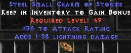 36 Attack Rating w/ 1-28 Lightning Damage SC - Perfect