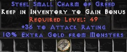 36 Attack Rating w/ 10% Gold Find SC - Perfect