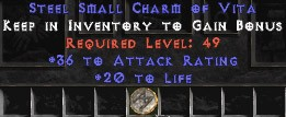36 Attack Rating w/ 20 Life SC - Perfect