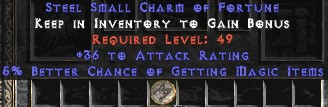 36 Attack Rating w/ 5-6% MF SC