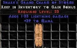 39 Mana w/ 1-33 Lightning Damage GC
