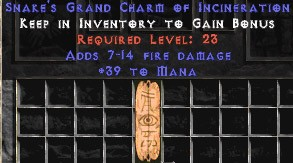 39 Mana w/ 7-14 Fire Damage GC