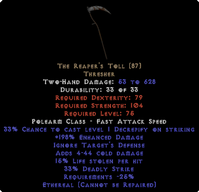 The Reaper's Toll - Ethereal - 15% LL