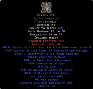 Phoenix Sacred Rondache 45 All Res - 350-379% ED