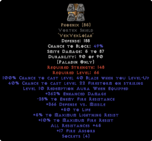 Phoenix Vortex Shield 45 All Res - 350-379% ED
