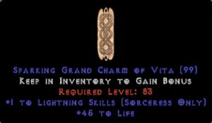 Sorceress Lightning Skills w/ 45 Life GC