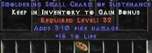 3-10 Fire Damage w/ 15 Life SC