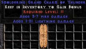 3-7 Fire Damage w/ 1-21 Lightning Damage GC
