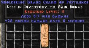 3-7 Fire Damage w/ 25 Poison Damage GC