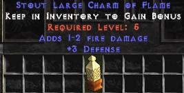 3 Defense w/ 1-2 Fire Damage LC