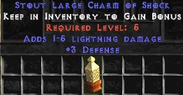 3 Defense w/ 1-5 Lightning Damage LC