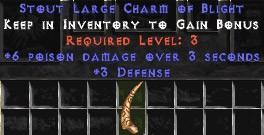3 Defense w/ 6 Poison Damage LC