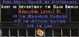 3 Max Damage w/ 10-16 AR & 10-15 Life SC
