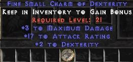 3 Max Damage w/ 17-19 AR & 2 Dex SC