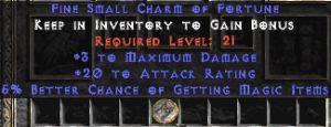 3 Max Damage w/ 20 AR & 5% MF SC