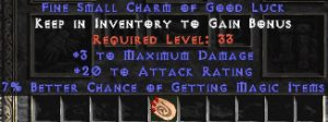 3 Max Damage w/ 20 AR & 7% MF SC - Perfect