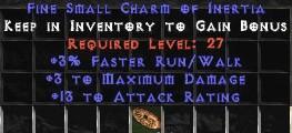 3 Max Damage w/ 10-16 AR & 3% FRW SC
