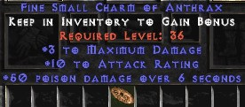 3 Max Damage w/ 10-16 AR & 50 Poison Damage SC