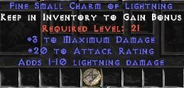 3 Max Damage w/ 20 AR & 1-10 Lightning Damage SC