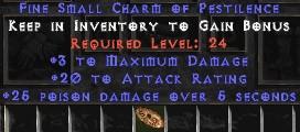 3 Max Damage w/ 20 AR & 25 Poison Damage SC