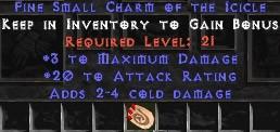 3 Max Damage w/ 20 AR & 2-4 Cold Damage SC