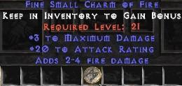 3 Max Damage w/ 20 AR & 2-4 Fire Damage SC
