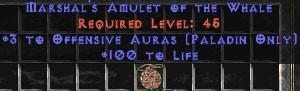 Paladin Amulet - 3 Offensive Auras & 100 Life