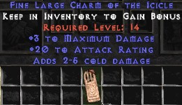 3 Max Damage w/ 20 Attack Rating & 2-5 Cold Damage LC